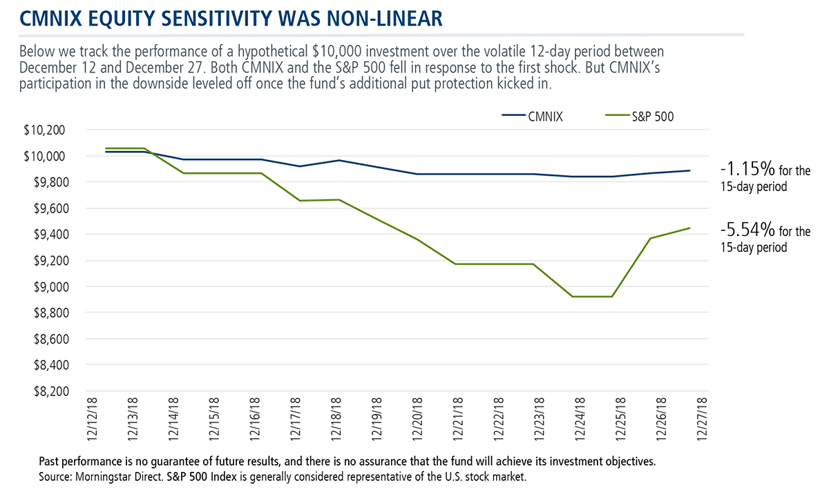 cmnix equity sensitivity was non-linear