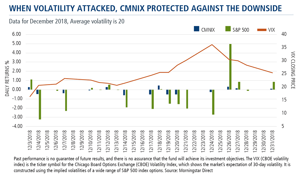 when volatility attacked cmnix protected against the downside