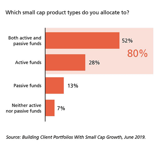 Which small cap product types do you allocate to?