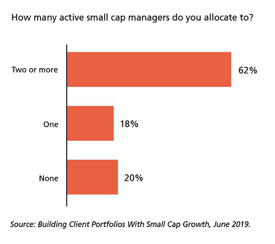 How many active small cap managers do you allocate to?